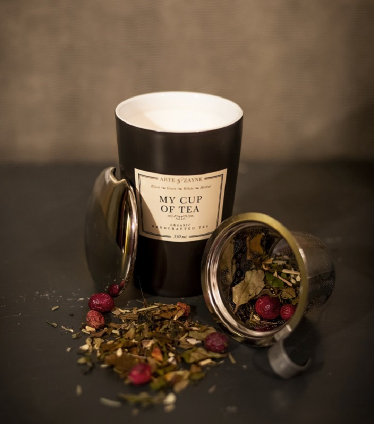 Double Wall Tea Cup with Infuser and Lid || Arte & Zayne