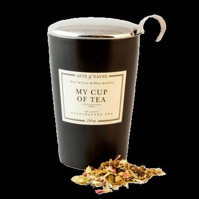 Double Wall Tea Mug with Infuser and Lid || Arte & Zayne