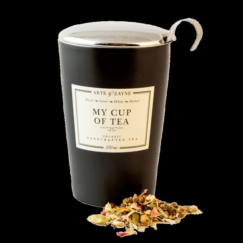 Double Wall Tea Mug with Infuser and Lid    Arte & Zayne