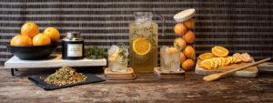 Orange Thyme Iced Tea with No 09 || Lakeside Afternoo